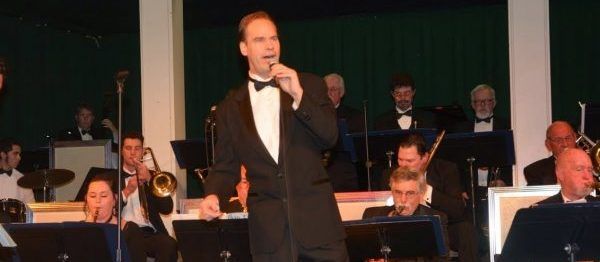 Jeff Wessman with a big band singing Sinatra